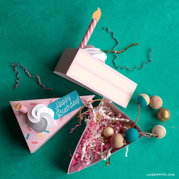 Printable Birthday Cake Boxes