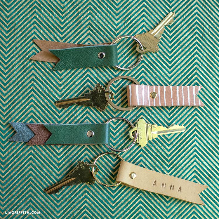 DIY Leather Keychains