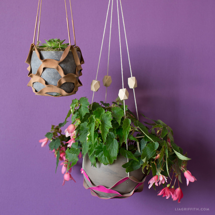 DIY Leather Plant Hanger