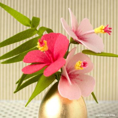 Video Tutorial: Felt Hibiscus Flower
