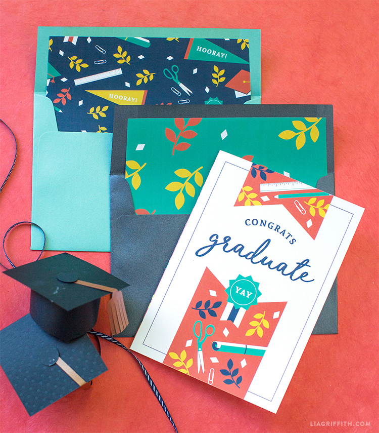 image about Printable Grad Cards identify Printable Commencement Card