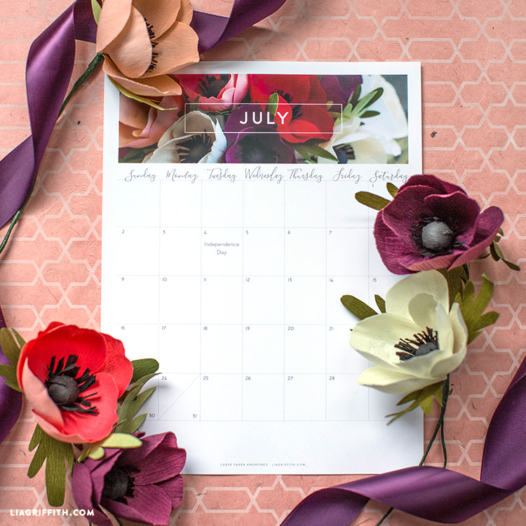Free July 2017 Calendar