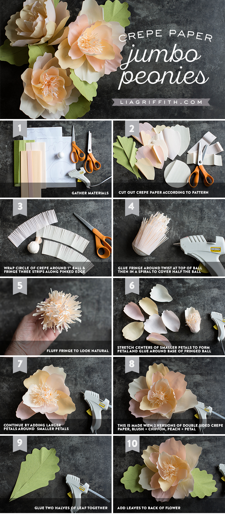 How to Make Jumbo Paper Peonies