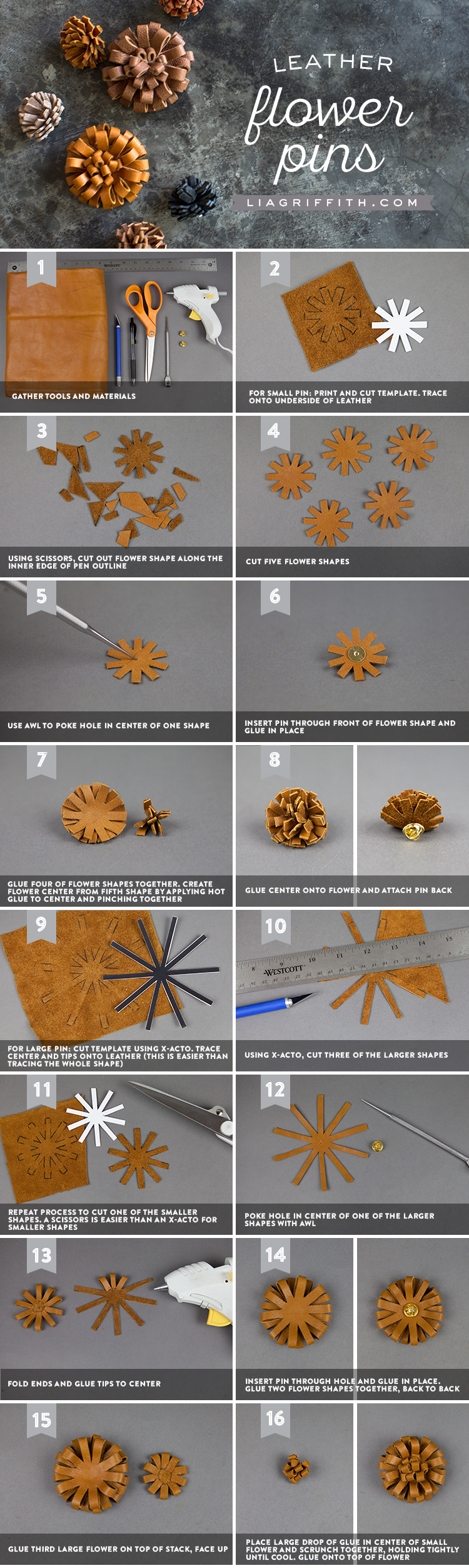 How to Make a Leather Flower Pin