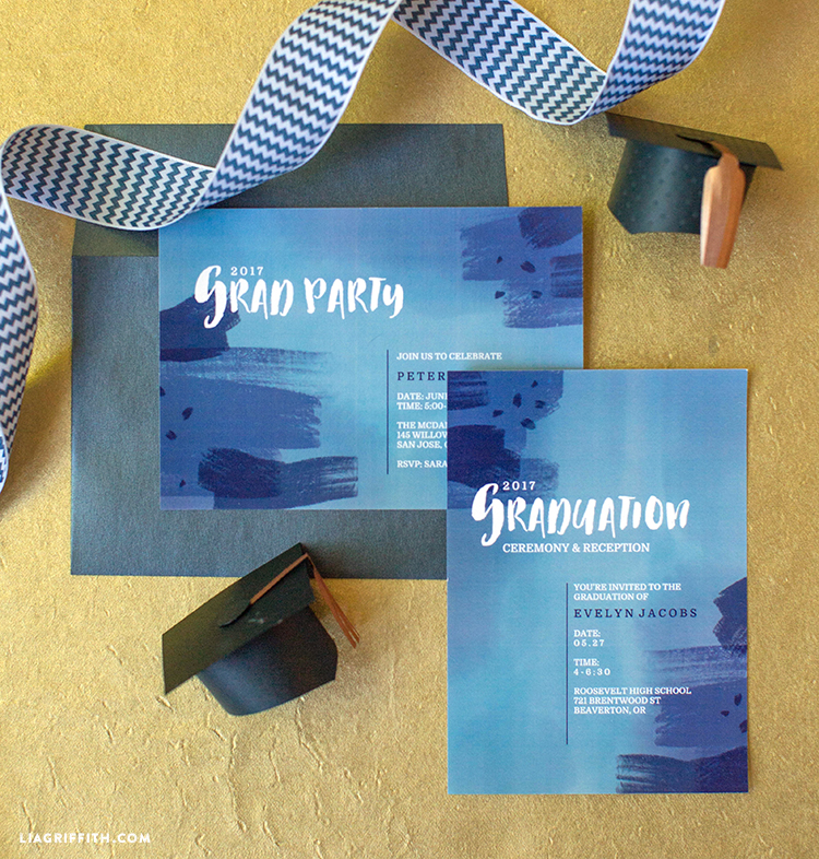 Painted Grad Invites