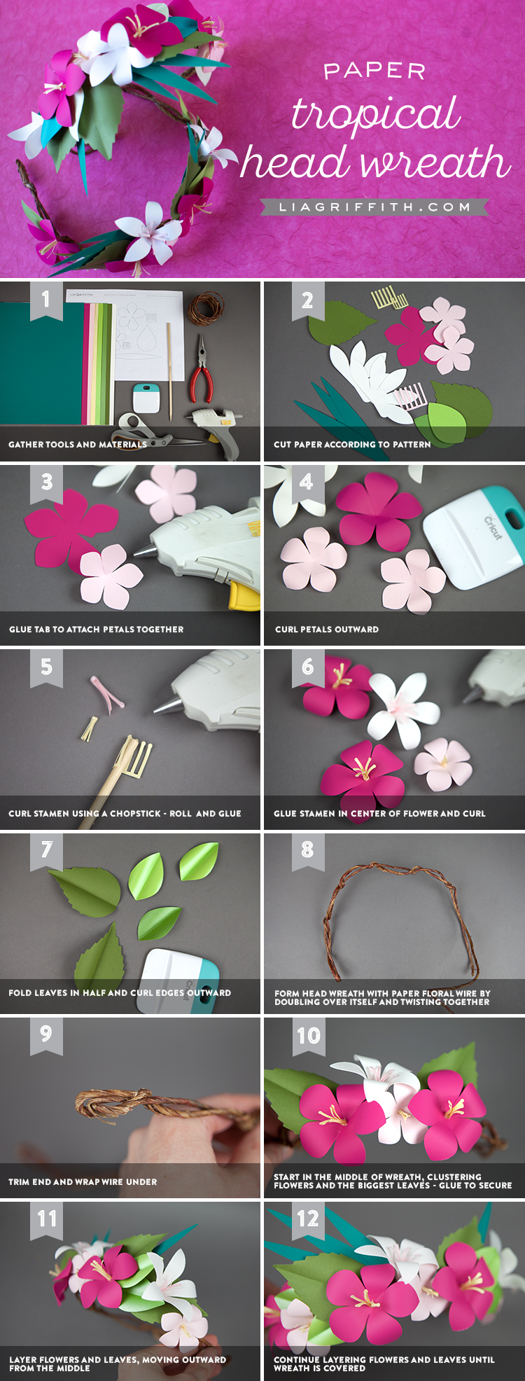 How to make a tropical flower crown