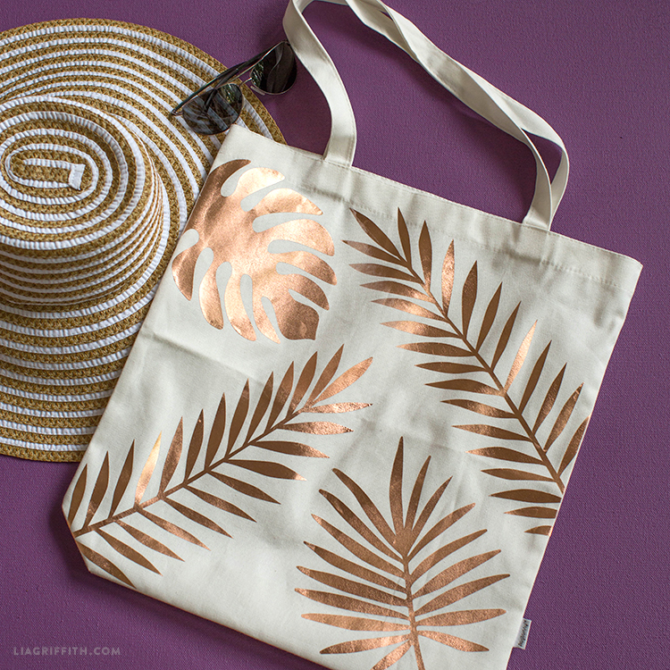 DIY Tropical Tote Bag