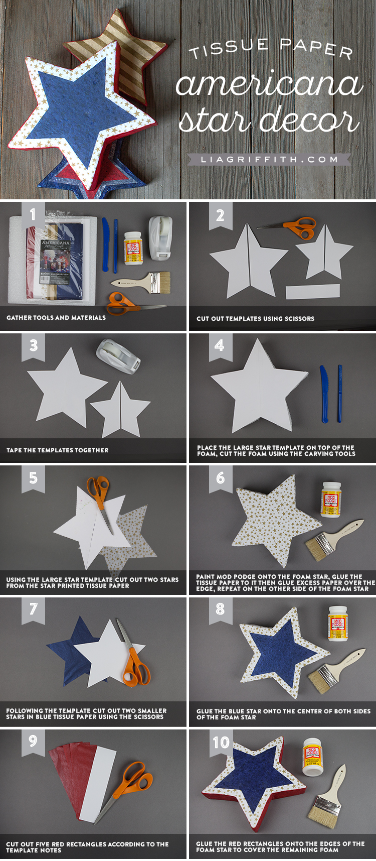 DIY Foam Star Party Decorations