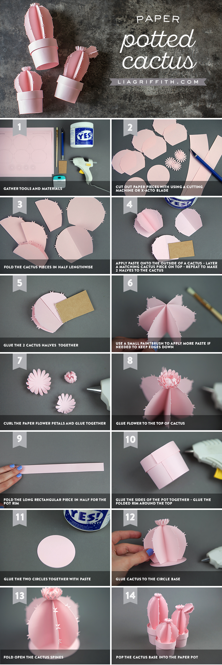 How to Make Paper Cactus
