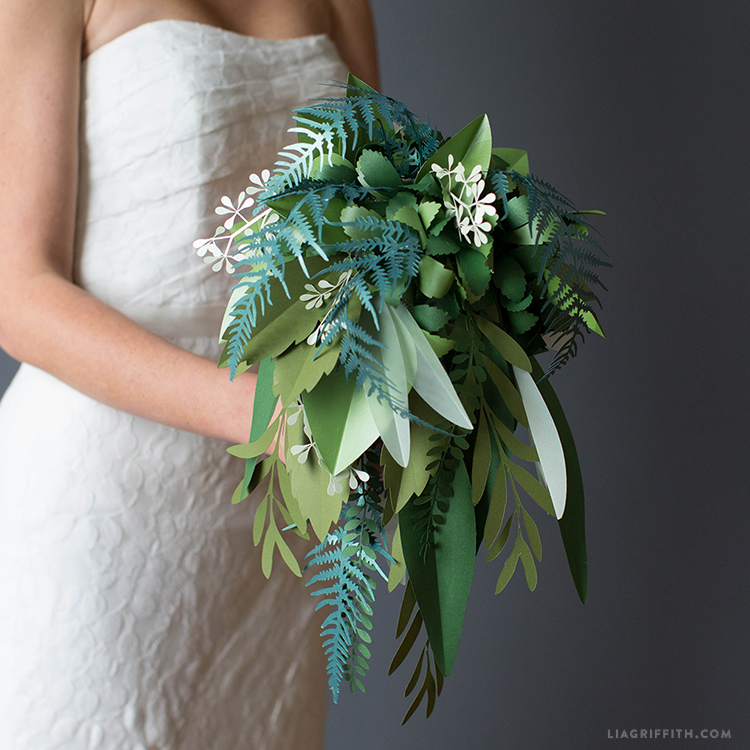 Paper Greenery Wedding Bouquet Video Tutorial