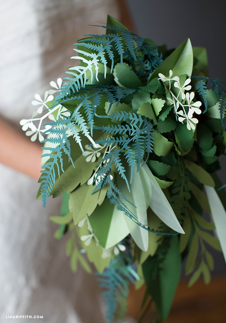 Paper greenery wedding bouquet video tutorial botanical bridal bouquet save izmirmasajfo