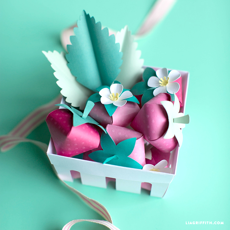DIY Paper Strawberries