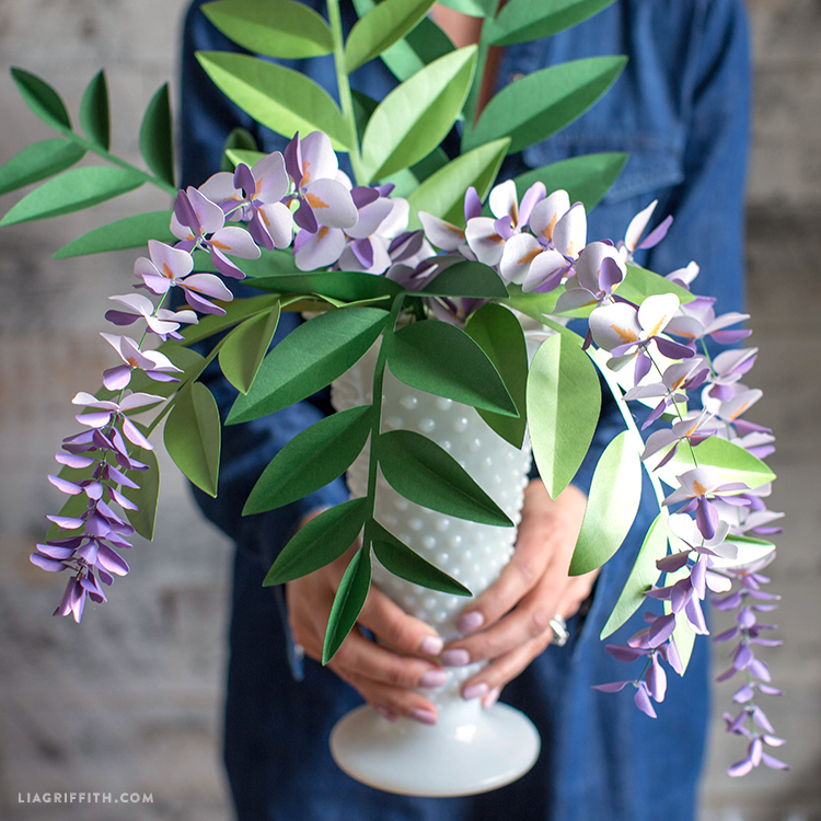 Paper Wisteria Blooms