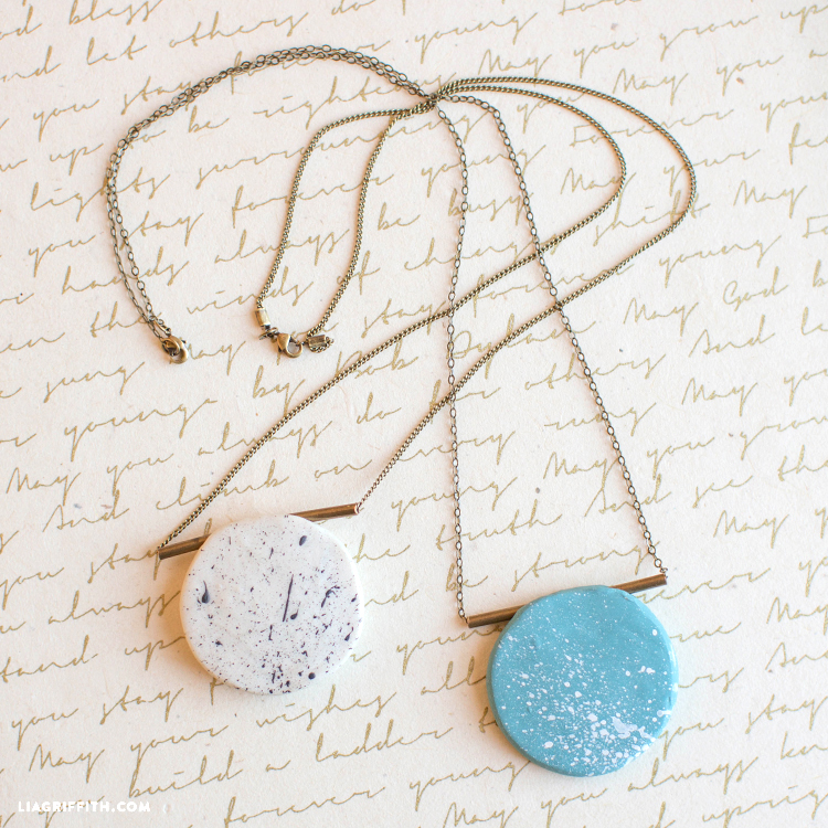 Diy polymer clay necklace lia griffith work hard clay hard aloadofball Images