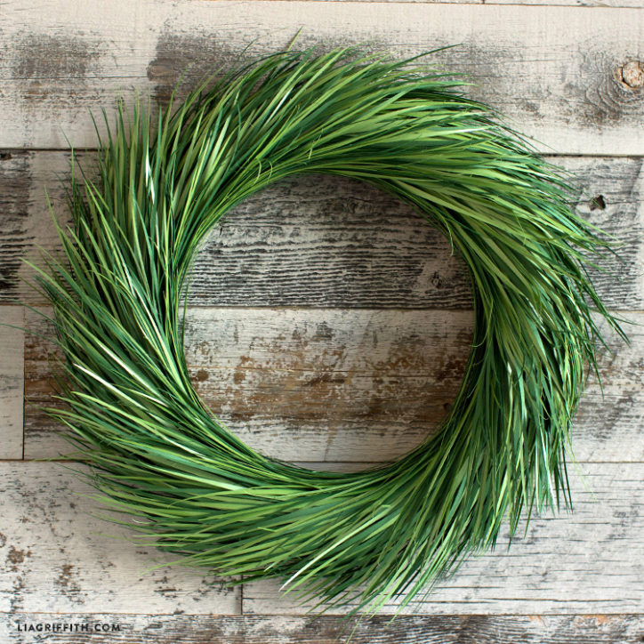 Papercut Grass Wreath