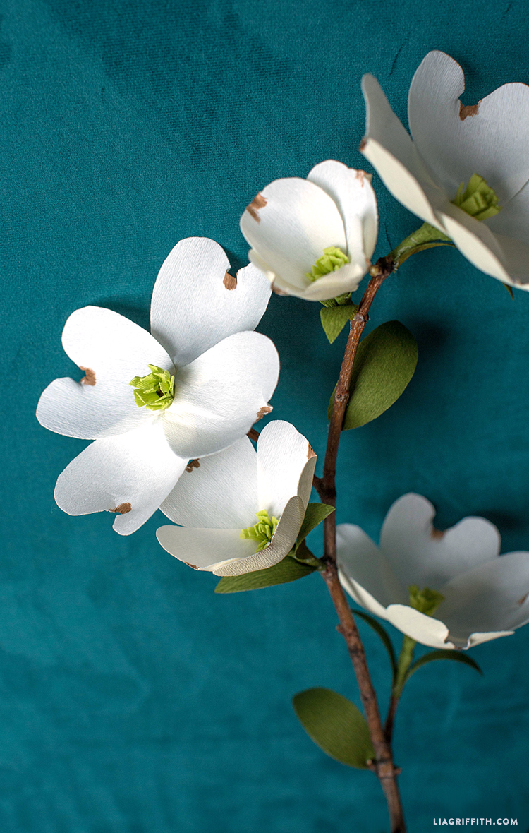 Crepe paper dogwood branches video lia griffith diy dogwood izmirmasajfo