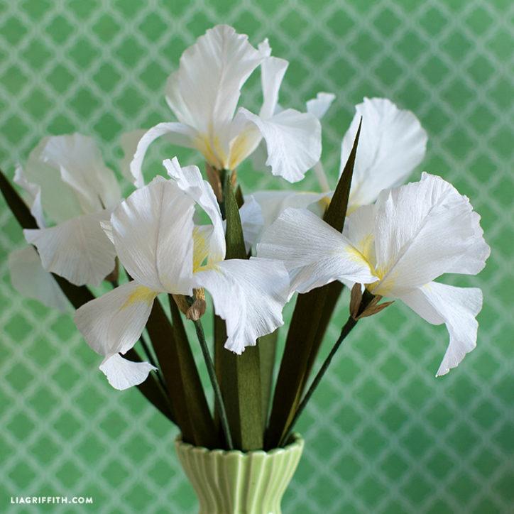 DIY fleurs lys en papier