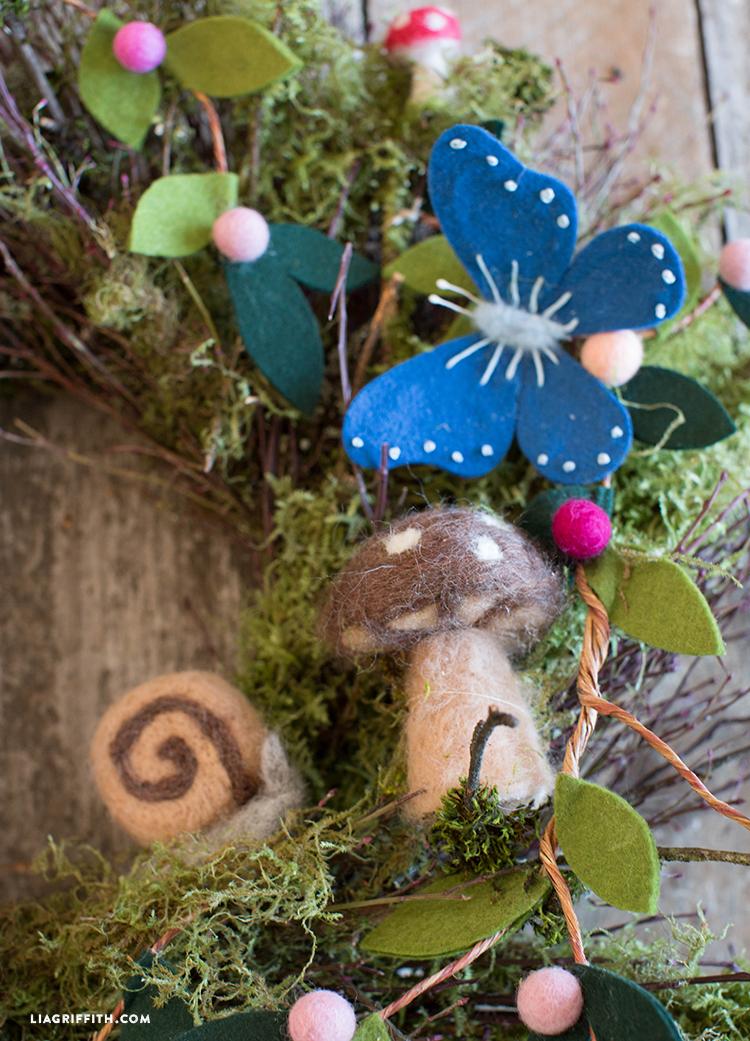 felt woodland wreath