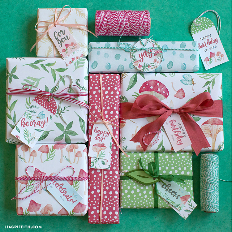 fairy garden gift wrap and tags