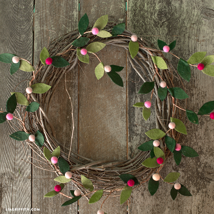 felt berry wreath