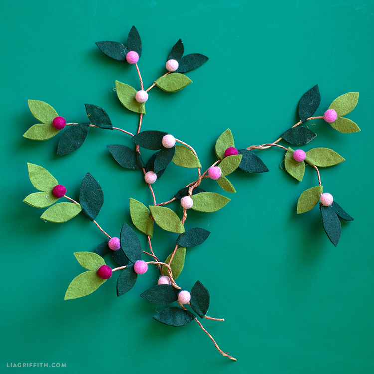 felt berry branches
