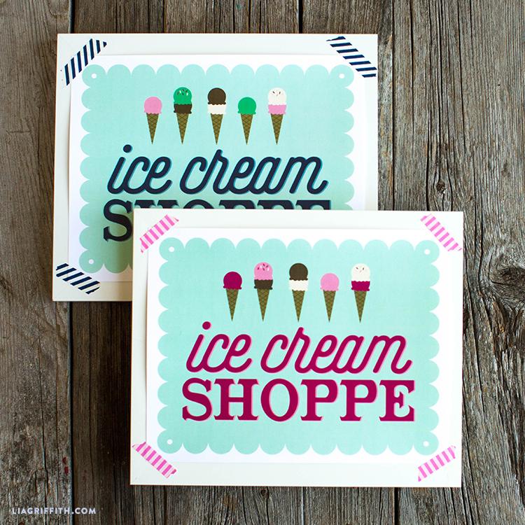 ice cream shop sign
