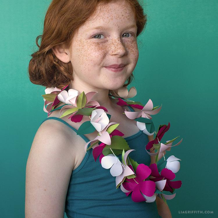 Paper flower lei lia griffith papercut paradise mightylinksfo