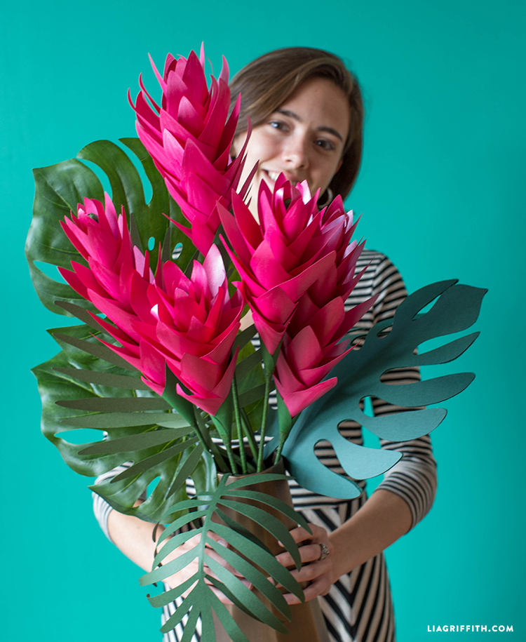 tropical paper bouquet