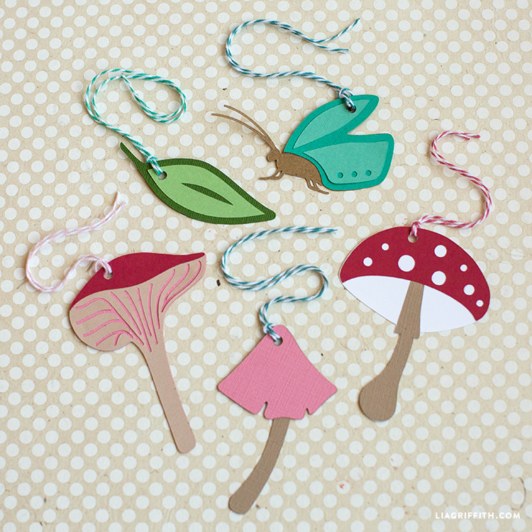 fairy garden papercut tags