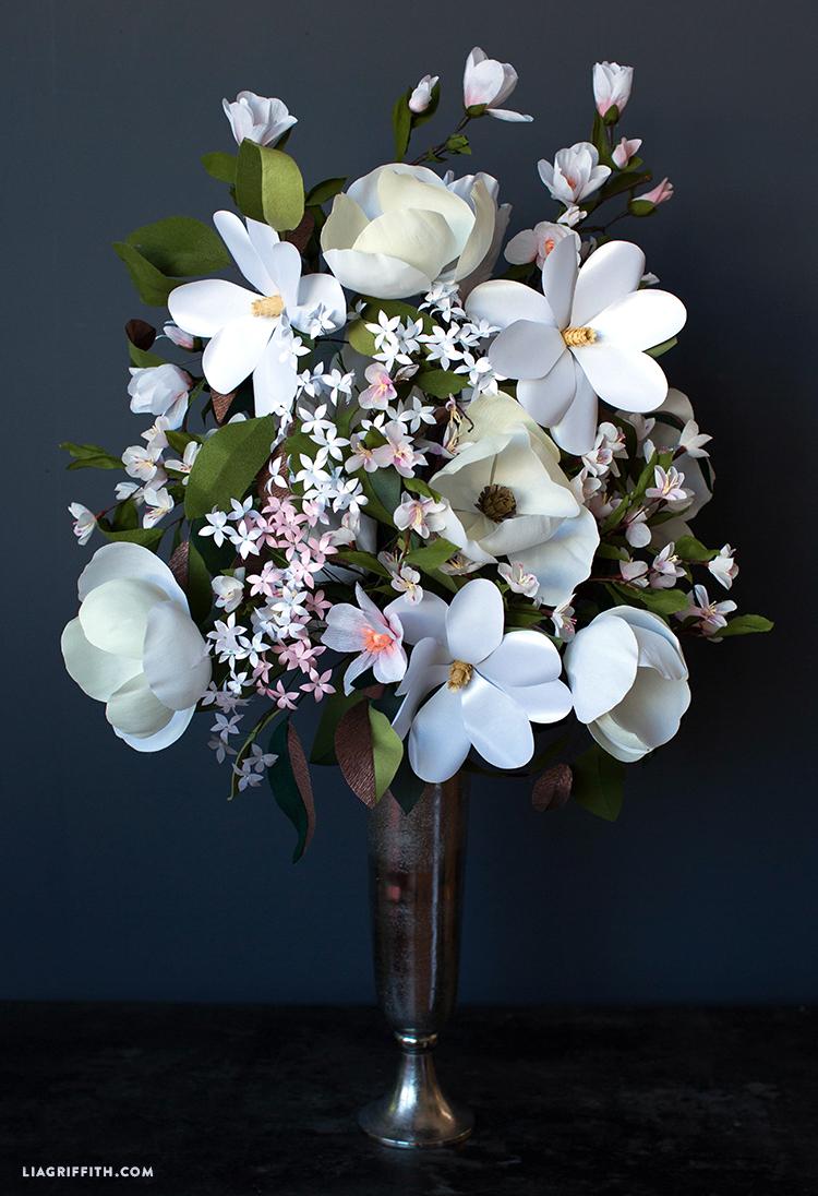 Giant Paper Flower Bouquets for Cricut - Lia Griffith