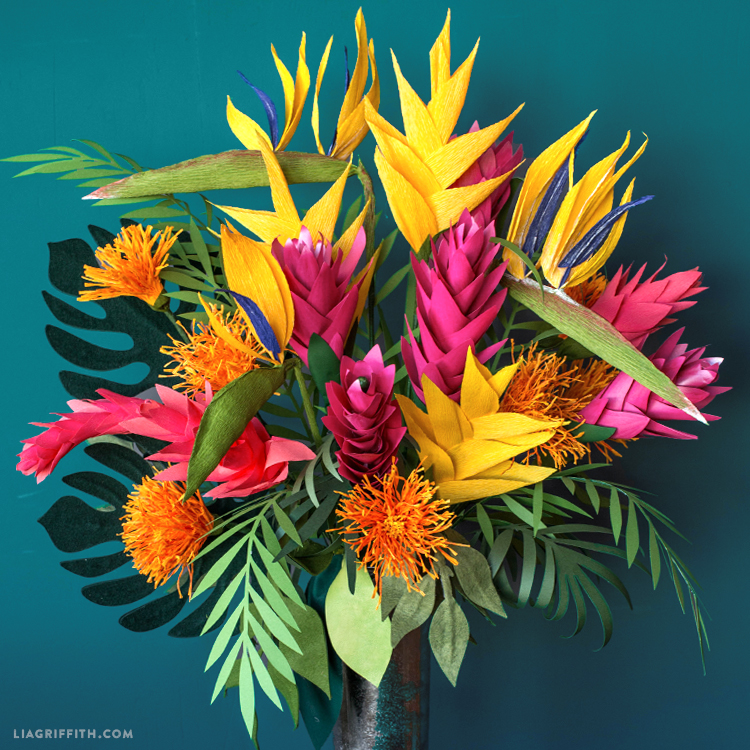giant tropical bouquet