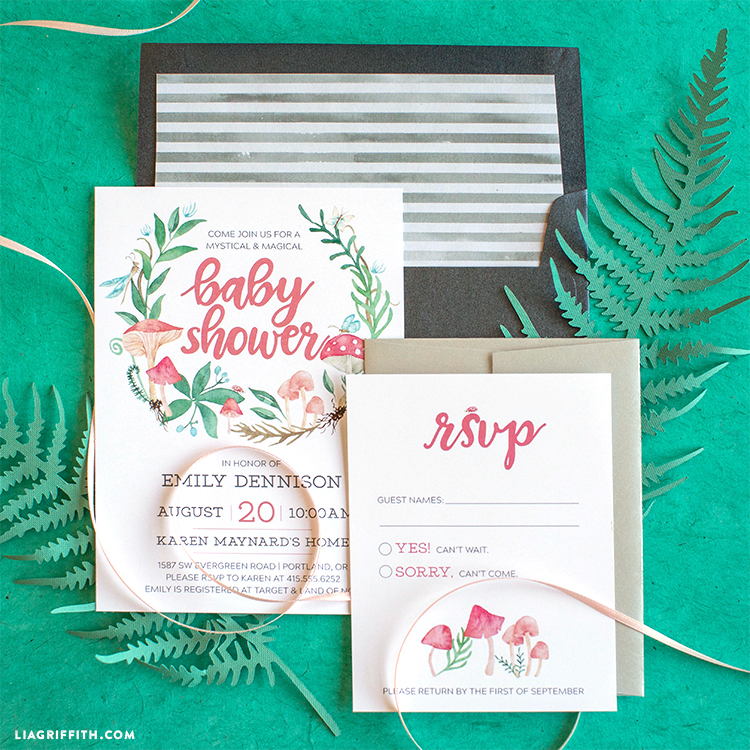 Fairy Garden Party Invitation Suite - Lia Griffith