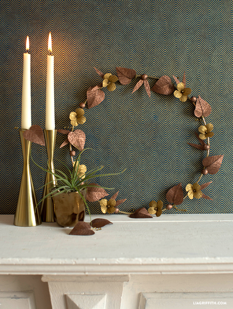 diy metallic wreath