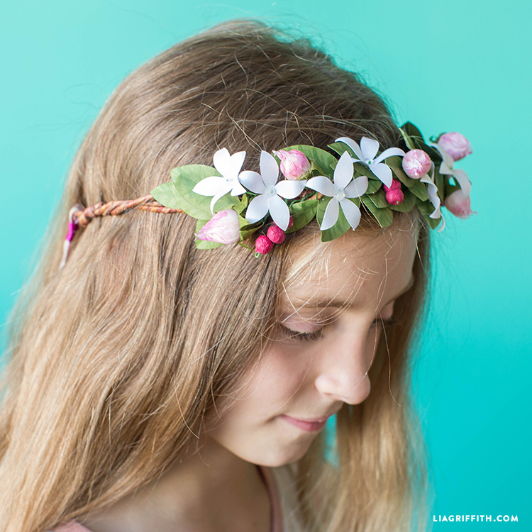 paper flower fairy crown