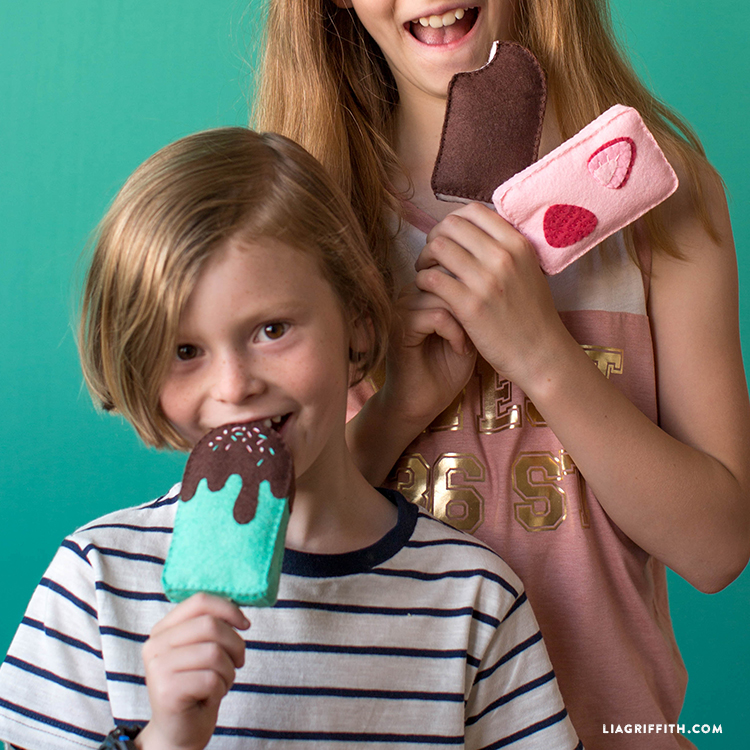 diy felt ice cream