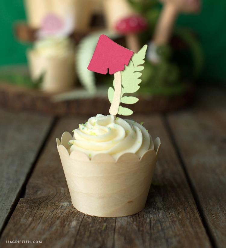 paper cupcake topper