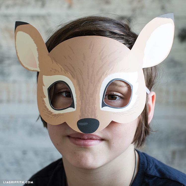 Printable Raccoon Mask Fox Deer