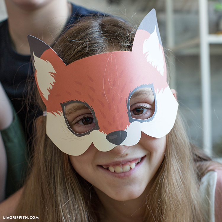 Printable Raccoon Mask Fox