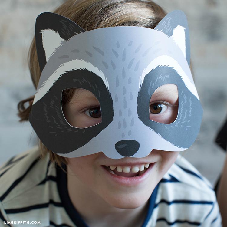 printable raccoon mask