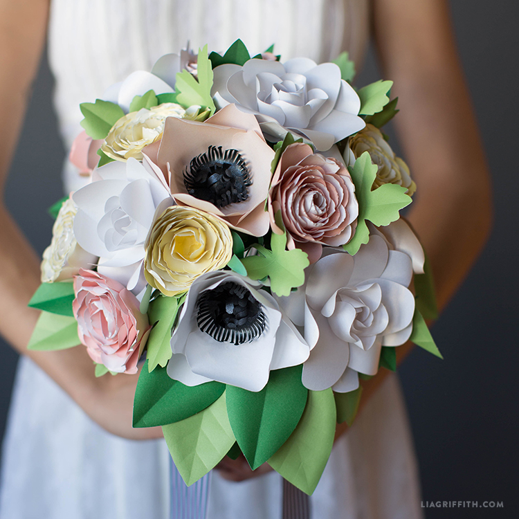 paper garden flower bouquet