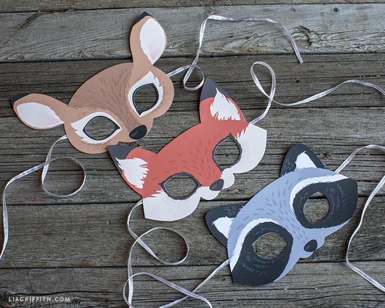 Printable Woodland Animal Masks - Lia Griffith