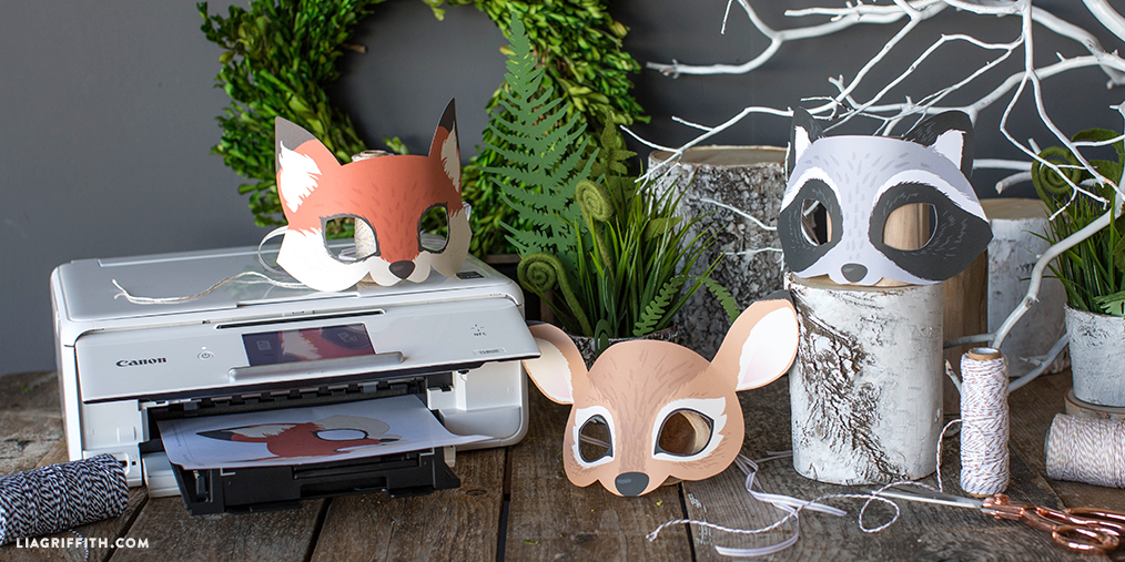 diy woodland masks