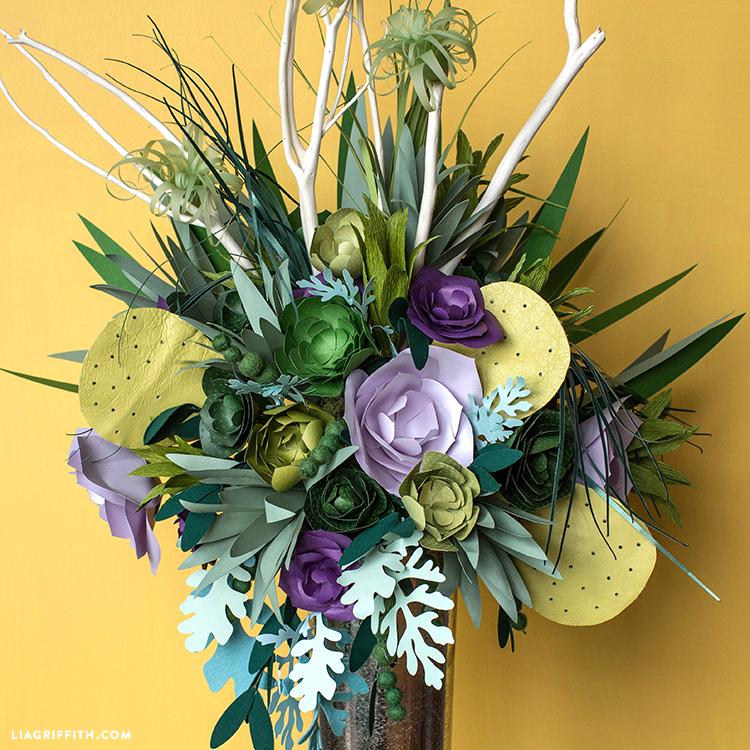 paper succulent bouquet