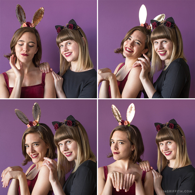 bunny and cat ears costumes
