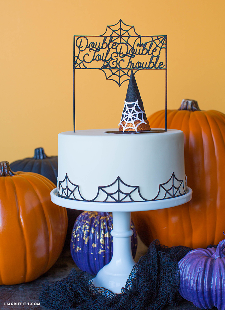 witch hat cake topper