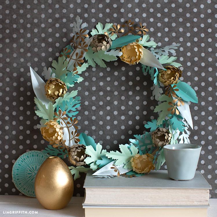 mini mum wreath for fall