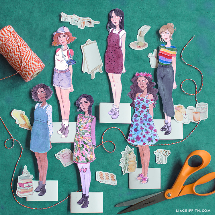graphic about Paper Dolls Printable named Absolutely free Stellar Sister Printable Paper Dolls - Lia Griffith