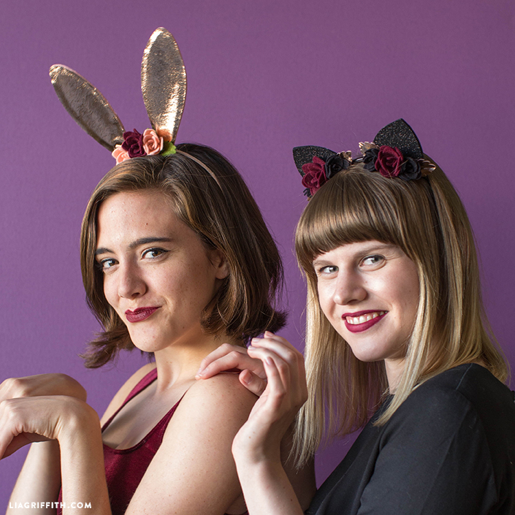 felt bunny and cat ears headbands