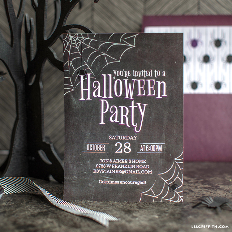 Halloween Party Invitations - Lia Griffith