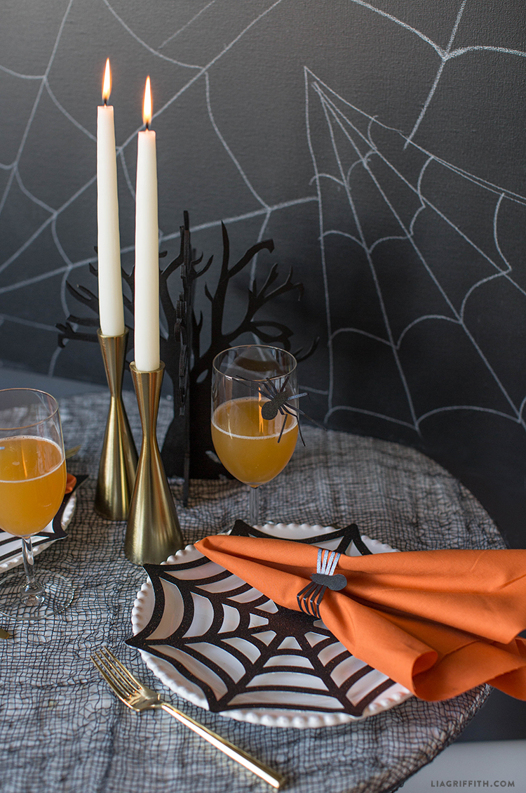 diy halloween place mats and napkin rings